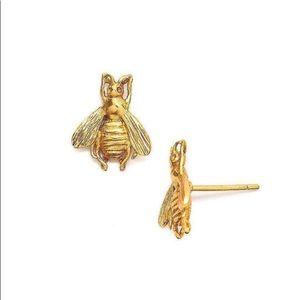 Julie Vos 24K gold plated bee stud earrings